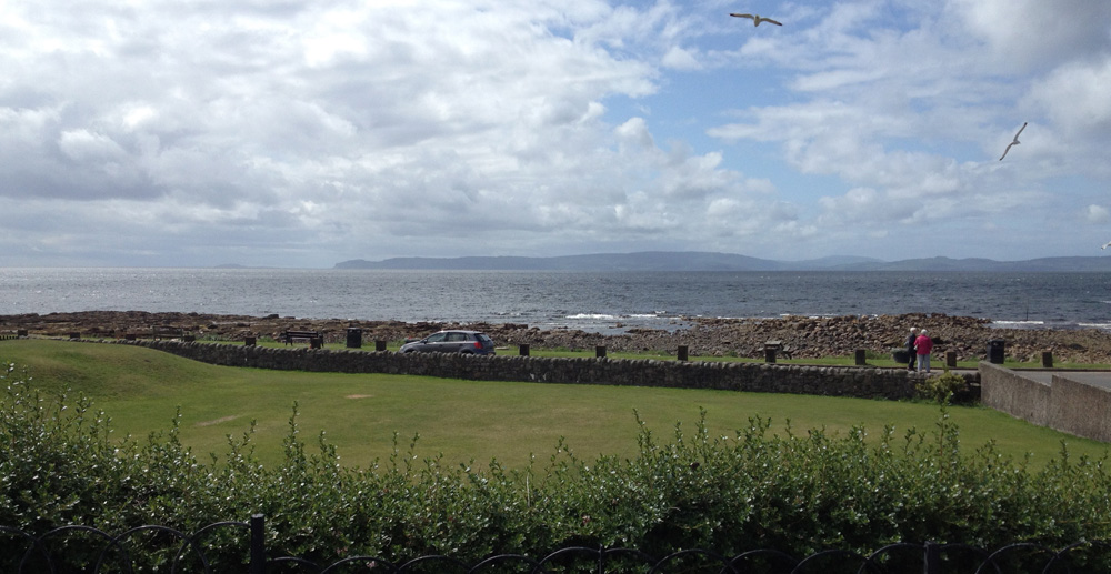 View from the hotel towards the Mull of Kintyre and N.Ireland