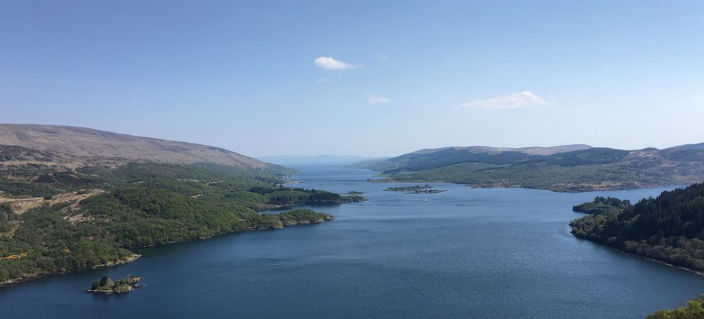 Not far from Strachur - looking down the Kyles of Bute