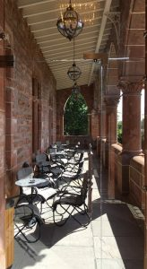 the terrace at Boclair House Hotel