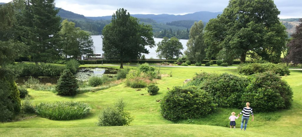 View from the hotel towards Loch Ard with endless exercise opportunities