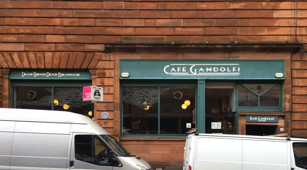 Picture of exterior of Café Gandolfi in Glasgow