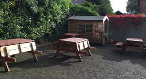 Picture of childrens playhouse at the Hideaway Café