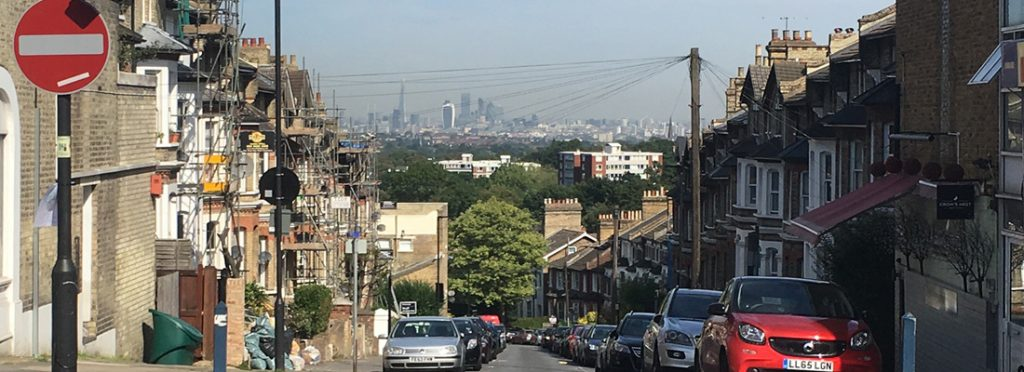 View from Crystal Palace towards central London