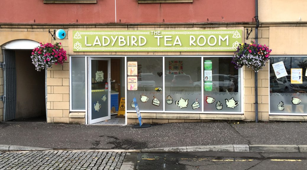 Exterior view of the Ladybird tearoom in Alloa
