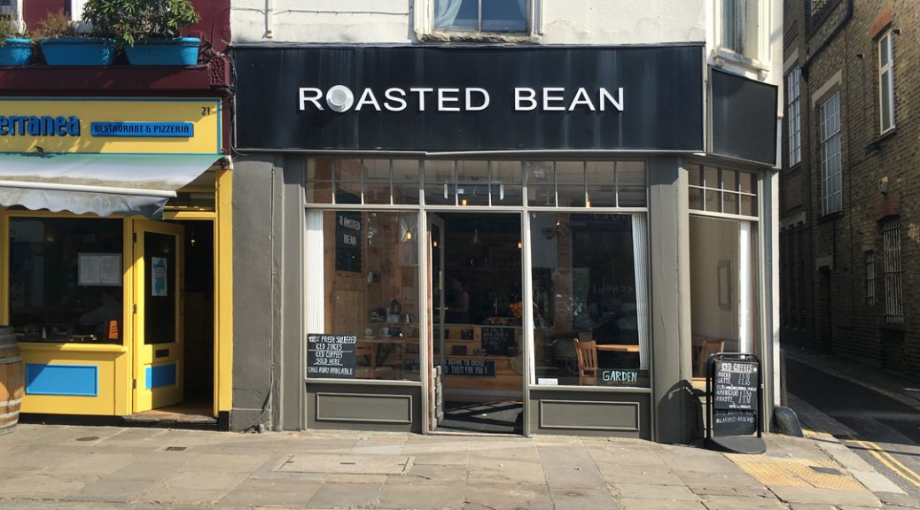 Exterior picture of the Roasted Bean café in Crystal Palace