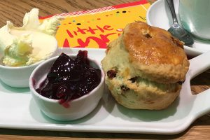 Picture of a scone at the Lyric theatre Hammersmith