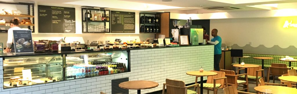 Internal view of the café at the Lyric theatre Hammersmith