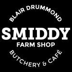 Logo for the Blair Drummond Smiddy Farm Shop, Butchery and Café