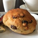 Picture of a scone at the Tramway Theatre café