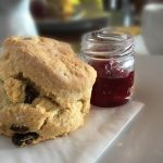 Picture of our scones at the Venachar Lochside café