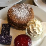 View of treacle scone at Alder's Traditional Tearoom