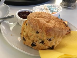 Piture of a scone at The Catstrand in New Galloway