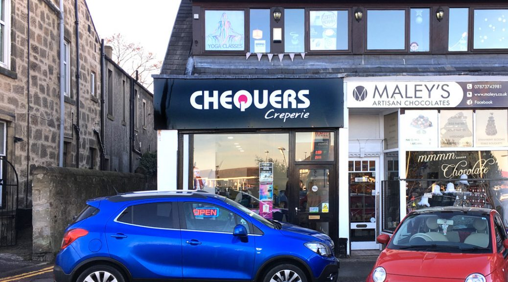 External view of Chequers crêperie, Falkirk