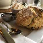 Picture of a scone at the Courtyard Café at Knockraich Farm, Fintry