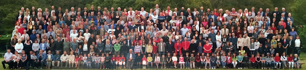 Picture of the entire population of Fintry at at the Courtyard Café at Knockraich Farm, Fintry