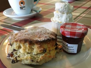 Picture of a scone at the Solway Tide tearoom in Kirkcudbright
