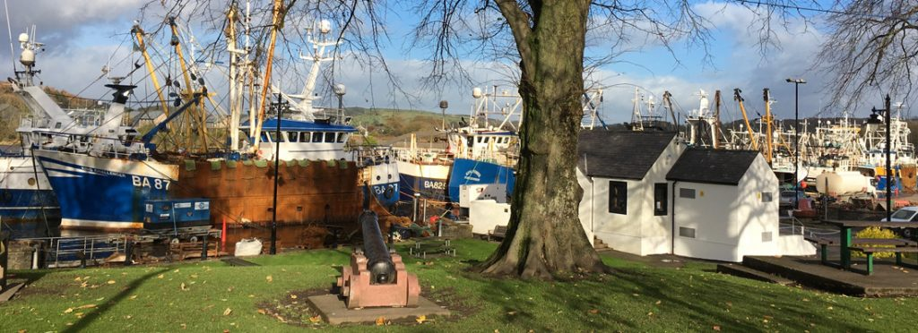 Picture of fishing boats at Kirkcudbright harbour