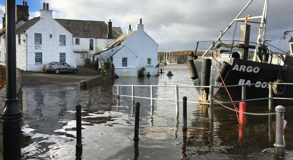 Picture of high tide at Kirkcudbright harbour
