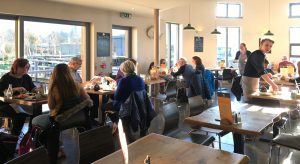 Interior view of the Woodhouse Café, Kippen