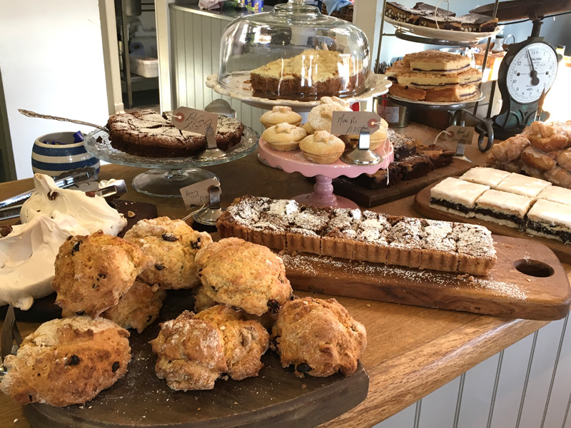 Cake display at the Woodhouse Café, Kippen