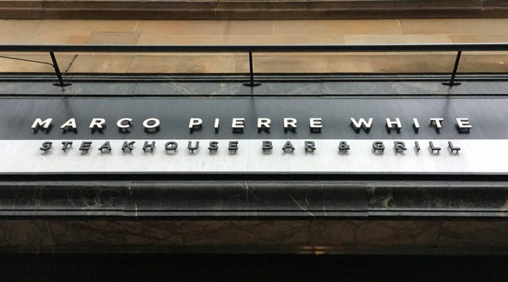 Exterior view of Marco Pierre White Steakhouse, Glasgow