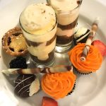 Top tier of afternoon tea at Marco Pierre White Steakhouse, Glasgow