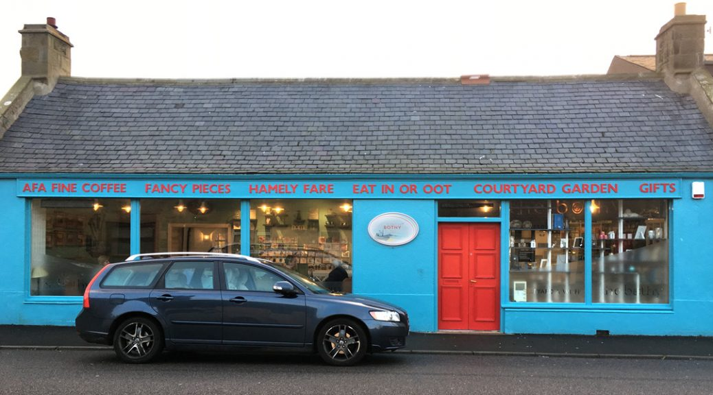 External view of The Bothy Bistro, Burghead