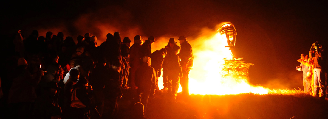 Burning the Clavie on Doorie Hill, Burghead