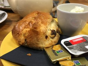 Picture of a scone at Cobbs, Aviemore