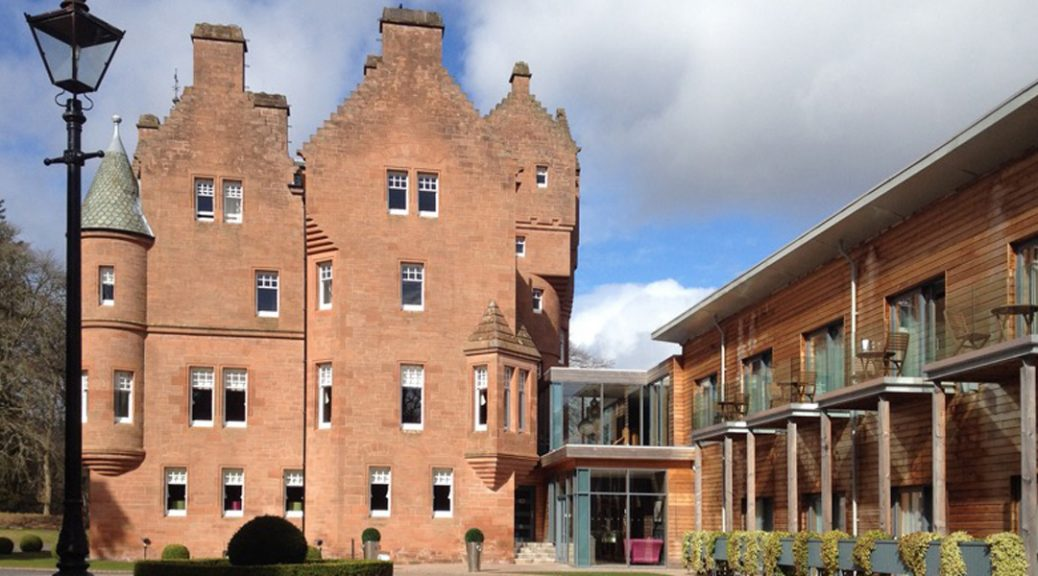 External view of Fonab Castle Hotel, Pitlochry