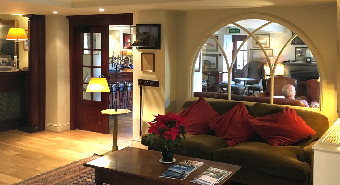 Reception area at the Royal Hotel, Comrie