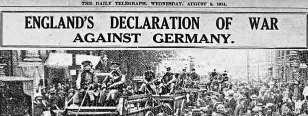 Declaration of war 1914