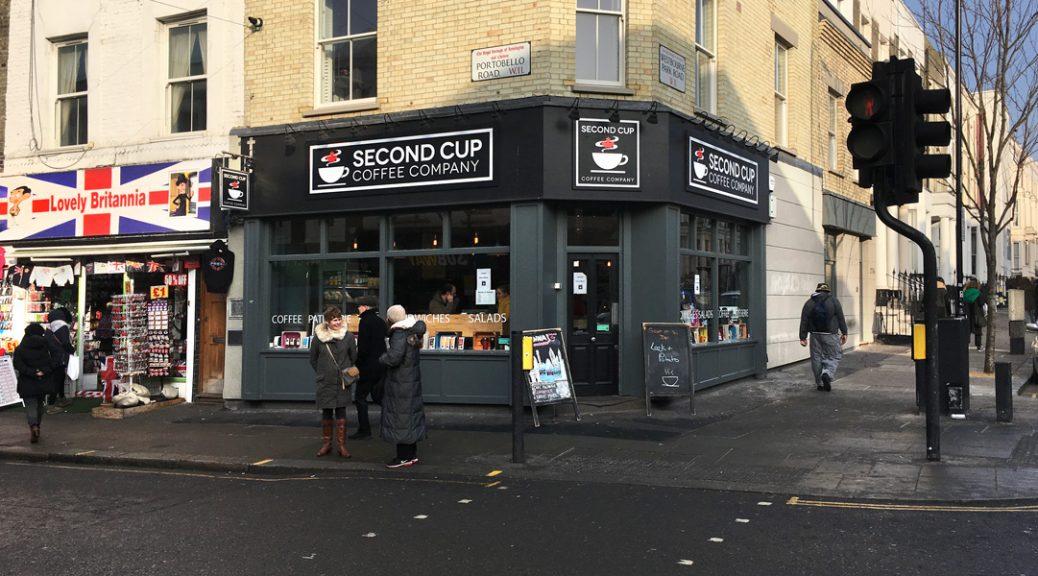Photo of exterior of Second Cup, Portobello Road, London