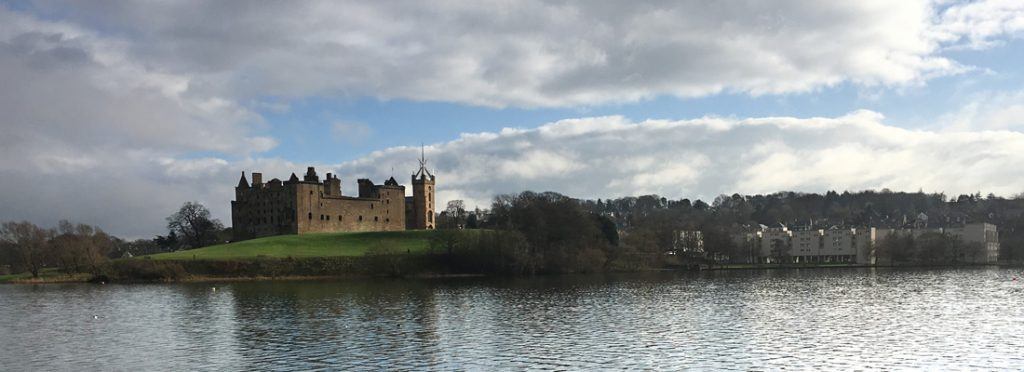 Linlithgow Palace across the loch