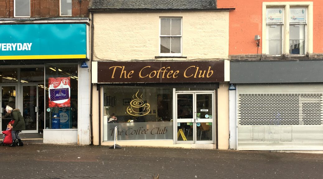 Exterior view of The Coffee Club in Bathgate