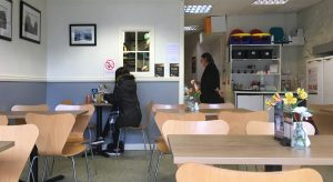 Interior view of The Coffee Club in Bathgate