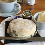 A scone at the Cupcake Café Bar near Torphichen