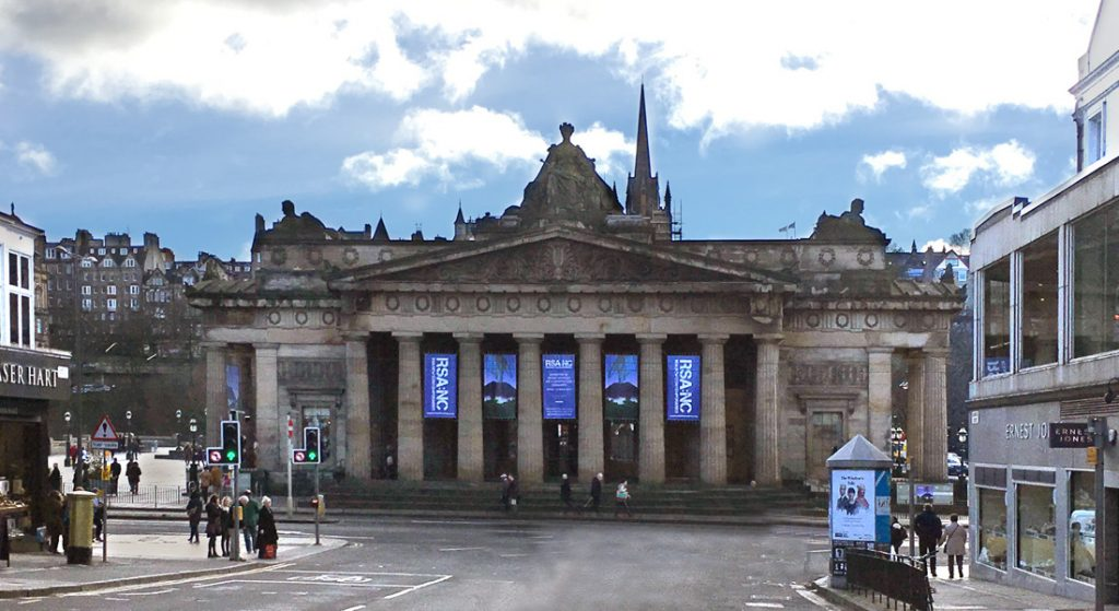 View towards the Scottish National Gallery, Edinburgh