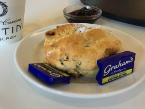 A scone at the Scottish Café & Restaurant at the National Gallery, Edinburgh