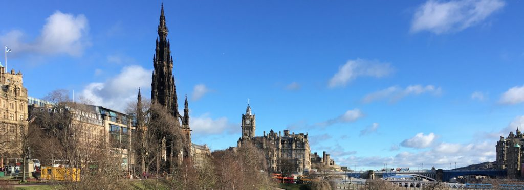 View from the Scottish Café & Restaurant at the National Gallery, Edinburgh