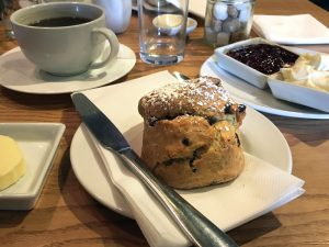 A scone at the Wee Lochan