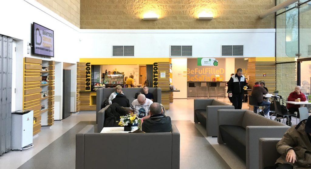 Café area at the Beatson West of Scotland Cancer Centre