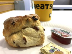 A scone at the Beatson West of Scotland Cancer Centre