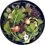 Moorcroft plate at Great Western Auctions, Glasgow