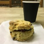 A scone at Great Western Auctions, Glasgow