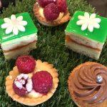 Delicate cakes at Pâtissier Maxime, Edinburgh