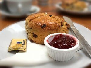 A scone at the Taste Café, Linlithgow