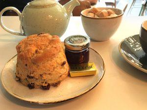 A scone at Callendar House tearoom, Falkirk