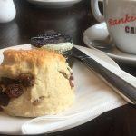 A scone at Rankine's Café, North Queensferry