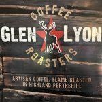 Glen Lyon Roasters coffee poster at the Glenlyon tearoom, Bridge of Balgie